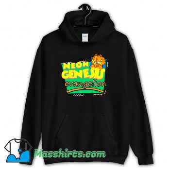 Funny Neon Genesis Evangelion Meets Garfield Hoodie Streetwear