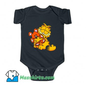 Garfield And Teady Bear Baby Onesie