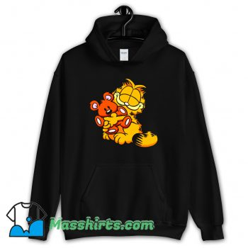 Garfield And Teady Bear Cute Hoodie Streetwear