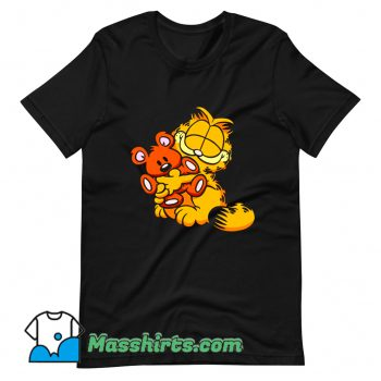 Garfield Hug Teady Bear Classic T Shirt Design 1