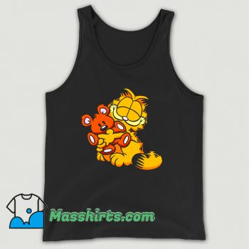 Garfield Hug Teady Bear Funny Tank Top