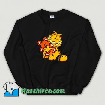 Garfield Hug Teady Bear Vintage Sweatshirt