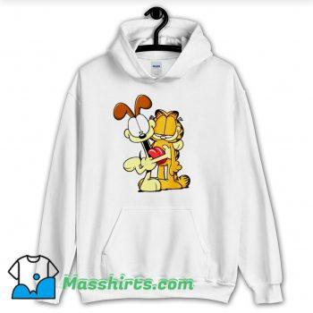 Garfield Odie Hugging Garfield Hoodie Streetwear