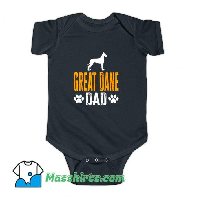 Great Dane Dad Gift Dog Baby Onesie