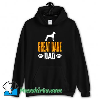 Cool Great Dane Dad Gift Dog Hoodie Streetwear