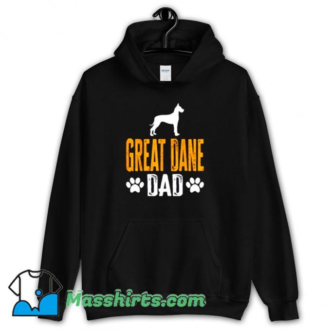 Cool Great Dane Dad Gift Dog Hoodie Streetwear