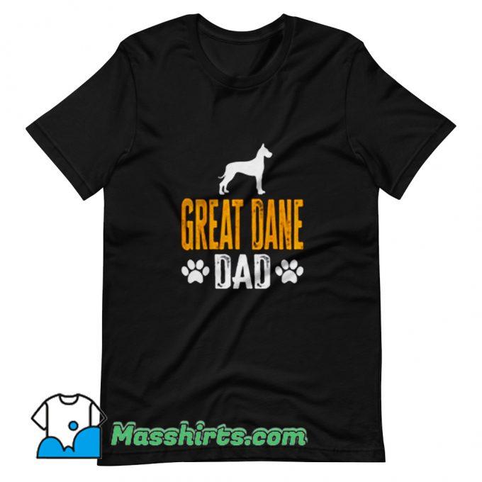 Vintage Great Dane Dad Gift Dog T Shirt Design