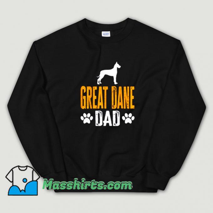 Great Dane Dad Gift Dog Sweatshirt On Sale
