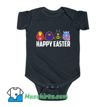 Happy Easter Superheroes Baby Onesie