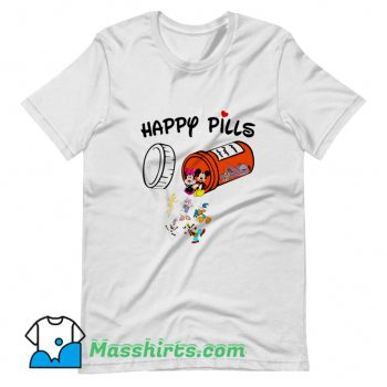 Happy Pills Disney Donald Duck Cartoon T Shirt Design