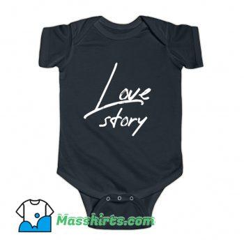 Happy Valentine Love Story Baby Onesie