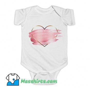 Heart Flower Love Valentine Day Baby Onesie