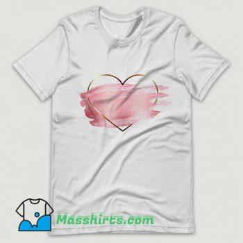 Heart Flower Love Valentine Day Cute T Shirt Design
