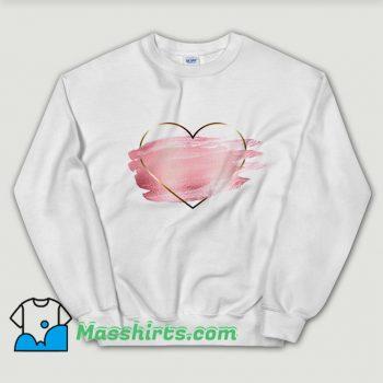 Heart Flower Love Valentine Day Sweatshirt On Sale