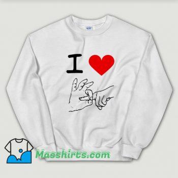 Cheap I Love Heart Sex Sweatshirt