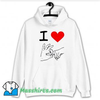 Funny I Love Heart Sex Hoodie Streetwear