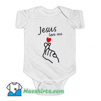 Jesus Love Me Valentine Day Baby Onesie