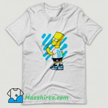 Jordan Off White UNC Bart Simpson T Shirt Design