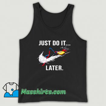 Just Do It Later Spider-Man Tank Top