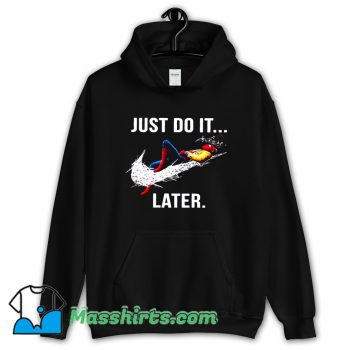 Vintage Just Do It Later Spider-Man Hoodie Streetwear