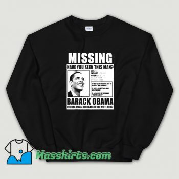 Cool Liberal Poster Barack Obama Sweatshirt
