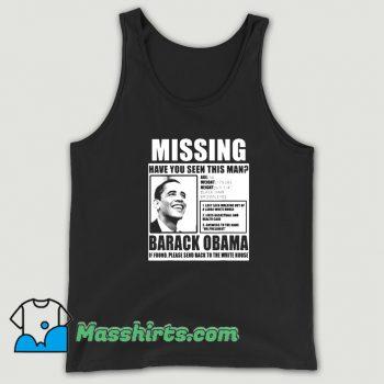 Vintage Liberal Poster Barack Obama Tank Top