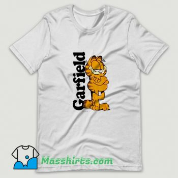 Logo Cartoon Garfield T Shirt Design