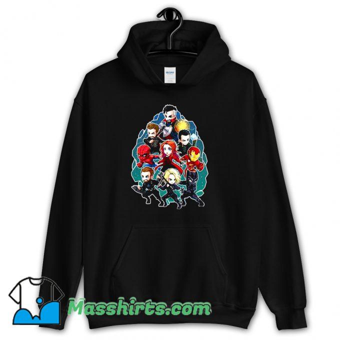 Original Marvel Character Chibi Hoodie Streetwear