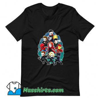 Cute Marvel Character Chibi T Shirt Design