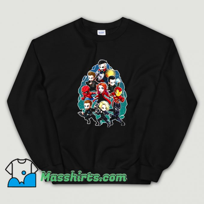 Cartoon Marvel Character Chibi Sweatshirt