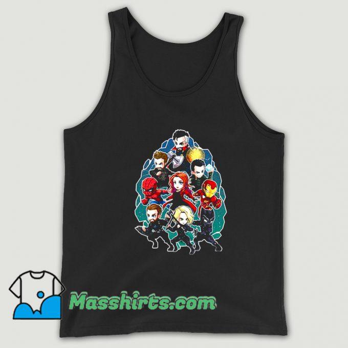 Vintage Marvel Character Chibi Tank Top