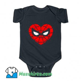 Marvel Spider-Man Heart Baby Onesie On Sale