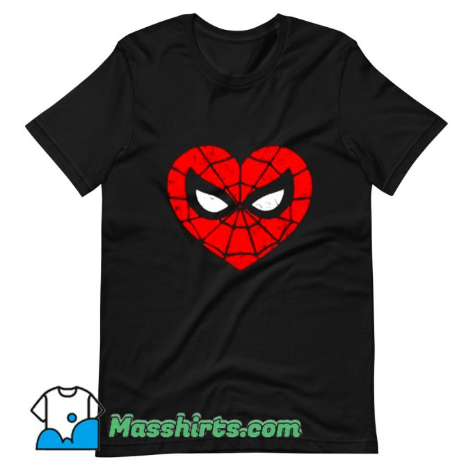 Cool Marvel Spider-Man Heart T Shirt Design
