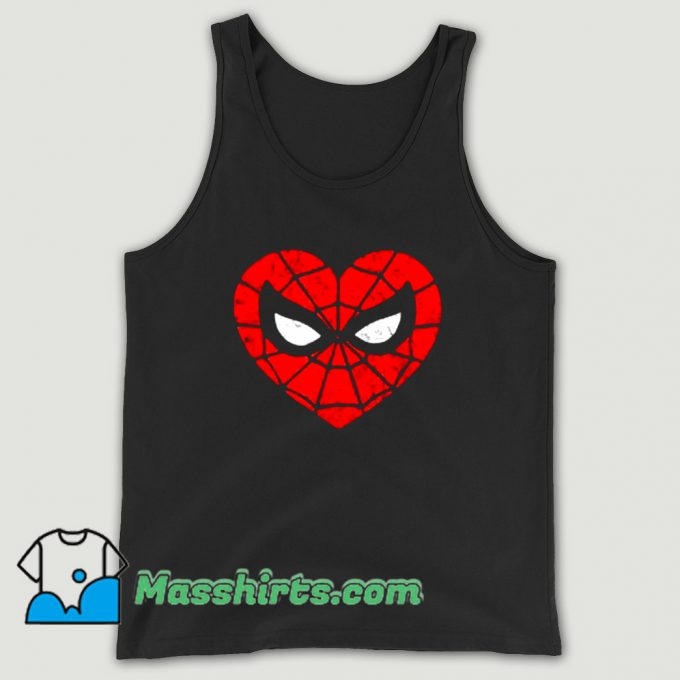 Cheap Marvel Spider-Man Heart Tank Top
