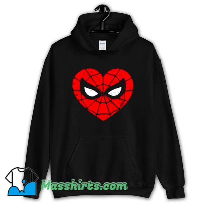 Awesome Marvel Spider-Man Heart Hoodie Streetwear