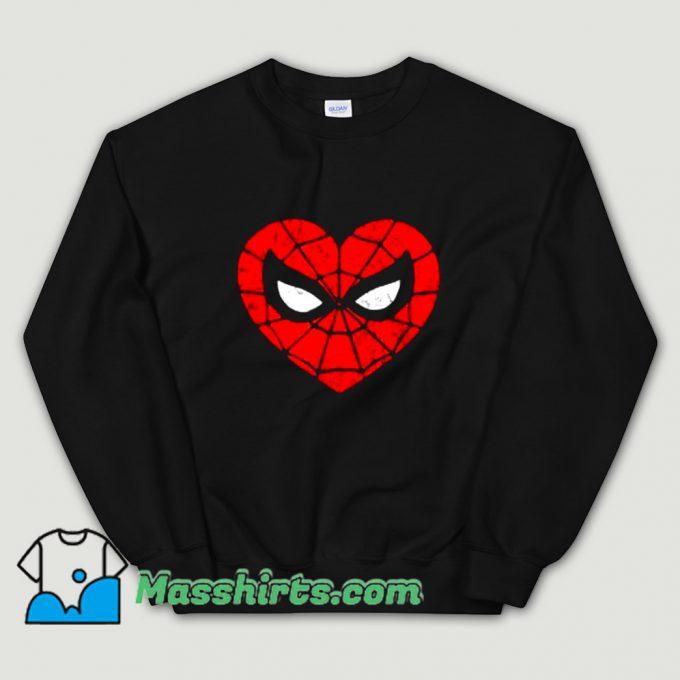 New Marvel Spider-Man Heart Sweatshirt
