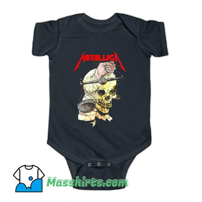 Metallica Hand On The Brain Baby Onesie