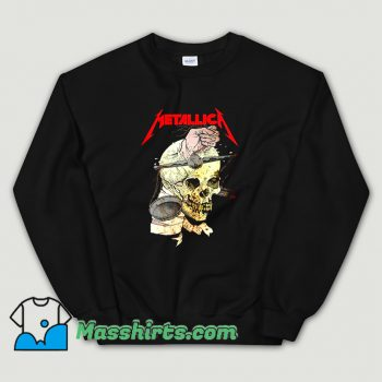 Metallica Hand On The Brain Vintage Sweatshirt
