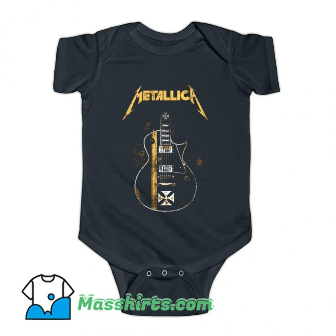 Metallica HelfIeld Guitard Baby Onesie