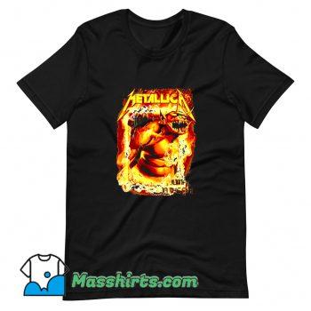 Classic Metallica Jump In The Fire T Shirt Design