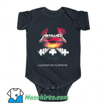 Classic Metallica Master Of Puppets Baby Onesie