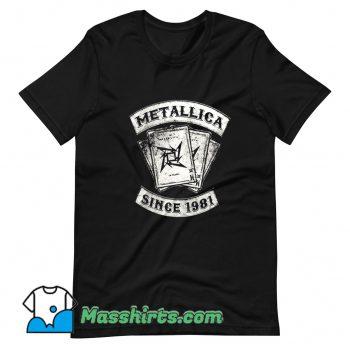 Original Metallica Rock Since 1981 T Shirt Design