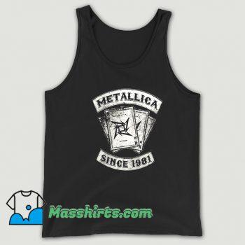 Metallica Rock Since 1981 Tank Top On Sale