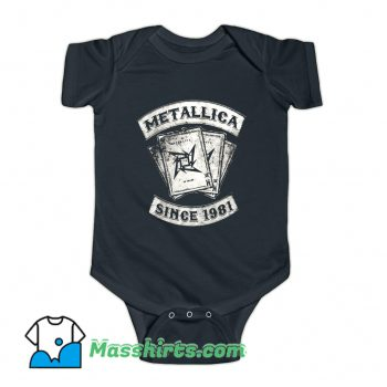 Metallica Rock Since 1981 Baby Onesie