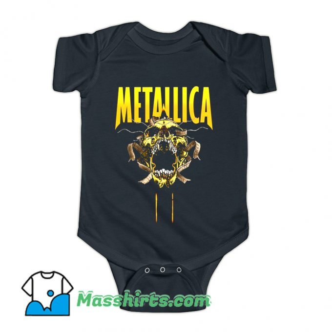 Awesome Metallica Skull Cry Rock Baby Onesie