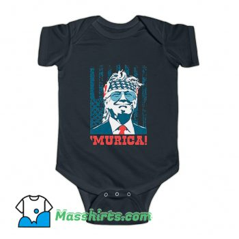 Awesome Murica 4Th Of July American Party Baby Onesie