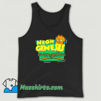 Neon Genesis Evangelion Meets Garfield Tank Top On Sale