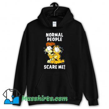 Normal People Scare Me Garfield Hoodie Streetwear