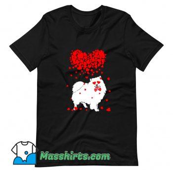 Original American Eskimo Dog Lover Valentine T Shirt Design