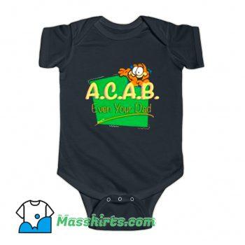 Original Garfield ACAB Even Your Dad Baby Onesie